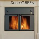Termocamino legna serie Green 24kw Mdb