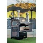 Barbecue de jardin calme Lion frontal avec bois