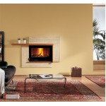 Wood burning fireplaces Nordica Focolare 80 Idro Crystal DSA