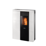 Pellet stoves for central heating Ravelli 8.0 kW Olivia ceramica Flow