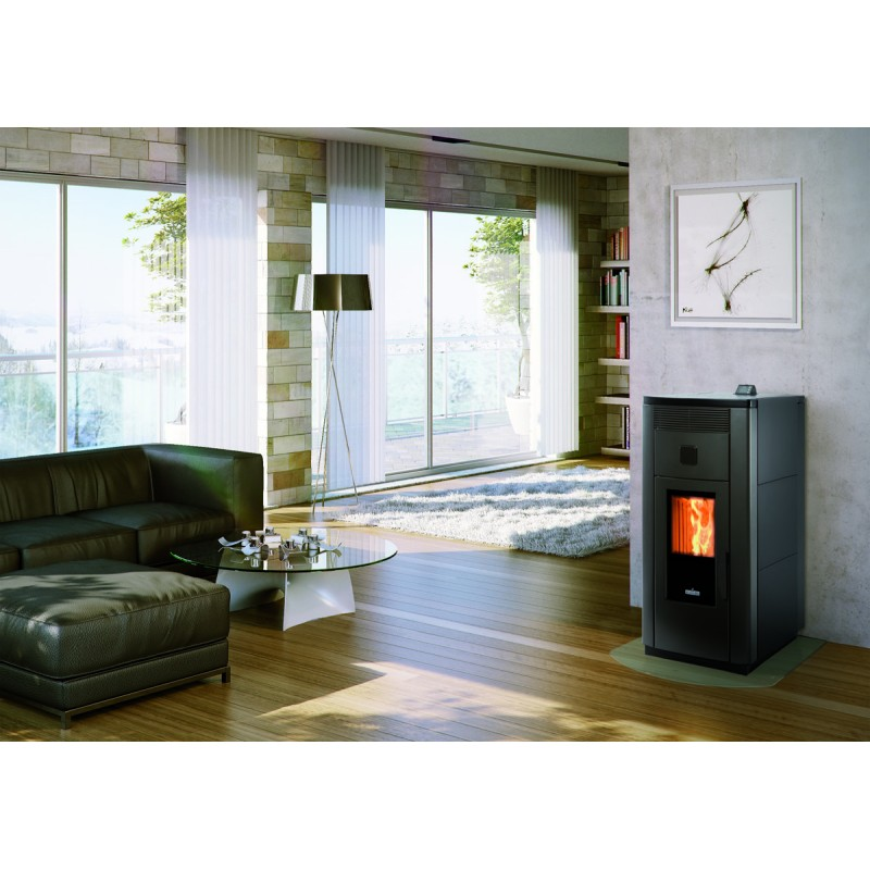 Pellet stove for central heating  Ravelli 21 kW HRV 170 Steel Hydro, Ravelli,  DND Store - Biancone snc