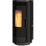 Pellet stoves for central heating Ravelli 12.0 kW Aurora Glass C Flow