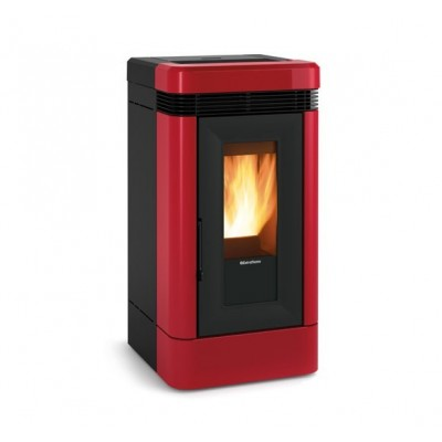 Ventilated pellet stove with majolica covering Nordica Lucia Plus