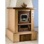 Wood stove Tranquilli da Incasso Saturno KIS-8050 / 10050 / 12550